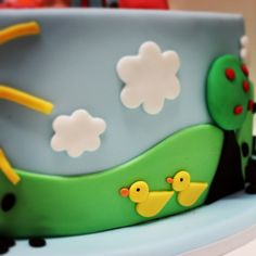 Peppa Pig Birthday Cake, Birthday Cake Girls, Tortas Peppa Pig, Peppa E George, Dedication Cake, Bolo Fack, Pig Party, Festa Party, Disney Cakes