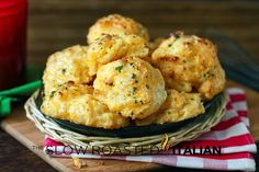 Copycat Red Lobster Cheddar Bay Biscuits in 20 Minutes  No link, the recipe is at the bottom of the page.