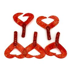 5pcs/lot 6cm 3g Best Seller Twin Tail Red Worm Soft Fishing Lures Freshwater Lure Fishing Accessories Tackle