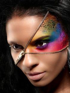Extreme zipper makeup