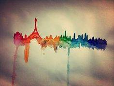 Messy Paris Art Painting! :) xx