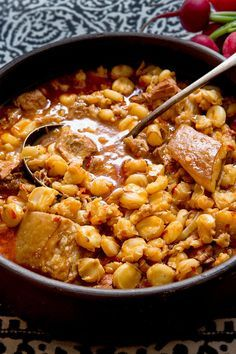NYT Cooking: In New Mexico, there is abundance and generosity and plenty of comfort food at holiday parties. Posole, the savory and hearty, rather soupy stew made from dried large white corn kernels simmered for hours, is traditional and easy to prepare. Stir in a ruddy red purée of dried New Mexico chiles to give the stew its requisite kick. This is satisfying, nourishing, fortifyin...