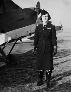 Pilot Joan Hughes at an aerodrome near London, 10th January 1940. She is one of the first women pilots to fly for the Air Transport Auxiliary, ferrying planes from factories to air bases during wartime ~