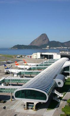 Santos Dumont Airport in Rio de Janeiro, Brazil, by architect Sergio Jardim