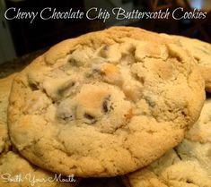 Chocolate Chip Butterscotch Cookies sm Butterscotch Cookies, Chocolate Chip Cookies, Chocolate Chips, Choclate Brownies, Cookie Recipes, Dessert Recipes, Dessert Ideas, Breakfast Recipes, Milk Recipes