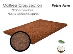 Coconut Coir Mattress Pad Bed Rug Organic The Futon