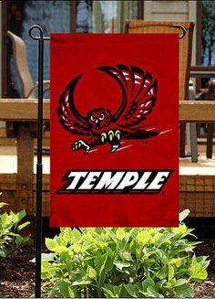 Temple University flag my MCJ got me for our garden! Lets go spring!