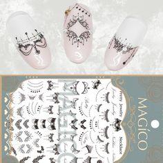 Collana del merletto 3D Nail Art Stickers Black Lace Completa Nail Stickers Decalcomanie Del Chiodo