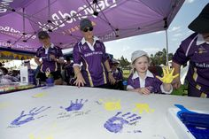 Hands of Hope at our major sponsor's marquee, Beyond Bank Australia