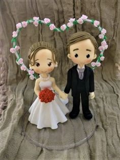 Polymer Clay Cake, Polymer Clay Flowers, Wedding Cake Toppers, Wedding Cakes, Fire Engine Cake, Craft Stick Crafts, Diy Crafts, Beauty And The Beast Theme, Engagement Cakes