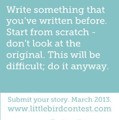 Little Bird Writing Contest opens March 1st