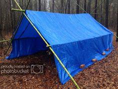 Camping Tarp, Bushcraft Camping, Camping Survival, Outdoor Survival, Survival Prepping, Emergency Preparedness, Survival Gear, Survival Skills, Zombies Survival