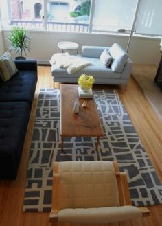 mid century chaise lounge and coffee table.