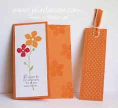 Julie's Stamping Spot -- Stampin' Up! Project Ideas Posted Daily: For All You Do Bookmark Card with Cutter Kit