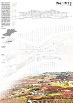 Positive Magazine Architecture La Rioja,Toscana, Napa Valley, Competition For The New Winery Magazine Architecture, Architecture Panel, Architecture Graphics, Architecture Drawings, Landscape Architecture, Architecture Details, Landscape Diagram, Planer Layout, Study Room Design