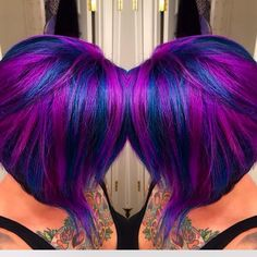 Fun image that client took of her color I did! Love Hair, Gorgeous Hair, Hidden Hair Color, A Line Hair, Bold Hair Color, Hair Colors, Rides Front, Diane Kruger, Wild Hair