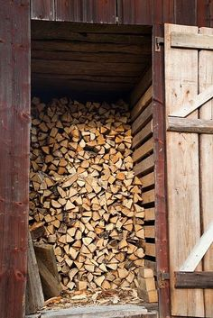 ...the wood shed was full and brimming over from his log splitting; his shoulder would find relief at last...