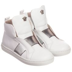 Young Versace Unisex White Slip-On Trainers at Childrensalon.com