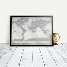 NEW GLOW in the DARK Big Scratch Off World Map PosterUS States