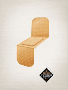"""Band Aid"" ad from Obnova Furniture Repair. Agency: New Moment New Ideas Company Y & R, Serbia"