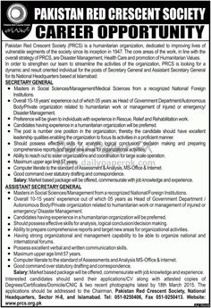 Pakistan Red Crescent Society PRCS Jobs Opportunities in National Headquarters Islamabad For #jobs detail and how to apply: #paperpk http://www.dailypaperpk.com/jobs/230776/pakistan-red-crescent-society-prcs-jobs-opportunities-national-headquarters-islamabad