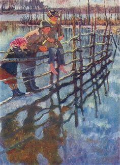 Children on a Fence Nikolay Bogdanov-Belsky
