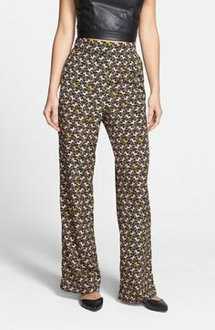 Wayf Monkey Print Wide Leg Pants available at #Nordstrom