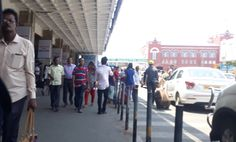 #Walkway in front of #ChennaiSuburban railway station. Never miss to feel the cool breeze here any time of the year.