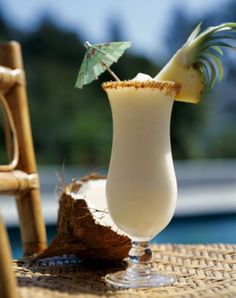 One of Hawaii's most popular drinks, this delicious blend of pineapple juice, rum and coconut cream is originally from Puerto Rico.