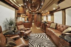 luxury motor coaches  This is bigger than my apartment!