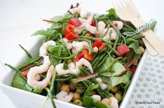 Salade met garnalen en zeekraal - Mind Your Feed