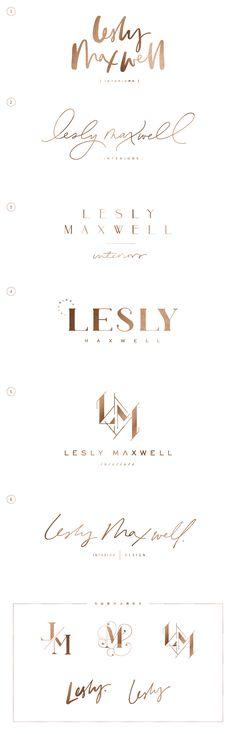 Lesly Maxwell - Saffron Avenue : Logo Design, Brand Design, Brand Styling, Monogram Design, Modern Monogram, Geometric Monogram, Hand-lettered logo,