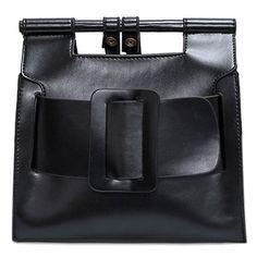 GAMISS - Belt Buckle PU Leather Crossbody Bag