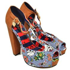 nautical heels. wooden heel. t-strap. iron fist. just fab