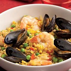 Quick Paella with Shrimp & Mussels Recipe - KitchenDaily