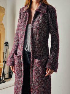 Veronique Leroy Purple Tweed Coat