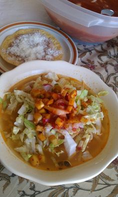 Pozole de guadalajara♥ YUMMY... Mexico.