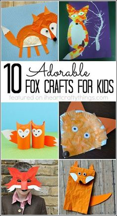 10 Adorable Fox Crafts for Kids We visited a petting zoo a few months ago in Oregon and my kids and I were able to pet a baby and adult red fox. It was the first time I had seen one Animal Crafts For Kids, Fall Crafts For Kids, Toddler Crafts, Preschool Crafts, Projects For Kids, Art For Kids, Craft Projects, Kids Crafts, Kids Diy