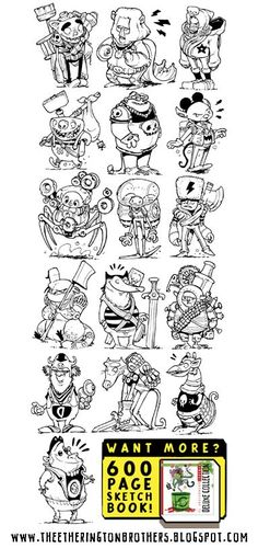 The Etherington Brothers: 52 Imaginary Video Game Character Concepts! via…