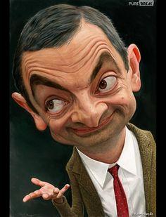 Cartoon Faces, Funny Faces, Cartoon Art, Cartoon Characters, Mr Bean Cartoon, Caricature Artist, Caricature Drawing, Funny Caricatures, Celebrity Caricatures