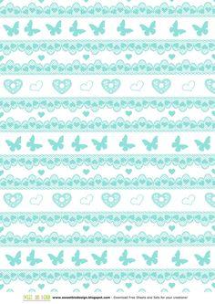 Mini Set di carte Verde Tiffany - Tiffany Green Mini Paper Set