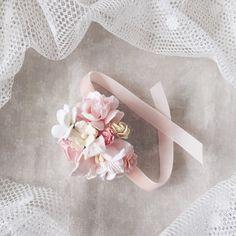 Flower corsage bridesmaides corsage flower bracelet by SERENlTY