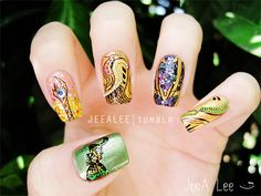 Loki Nails by jeealee.deviantart.com