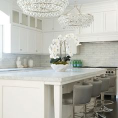 Transitional Kitchen by Susan Glick Interiors
