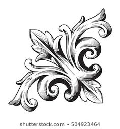 Filigrana Tattoo, Tattoo Oma, Tattoo Drawings, Art Drawings, Baroque Frame, Scroll Tattoos, Ornament Drawing, Armor Tattoo, Picture Frame Decor