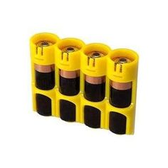 PowerPax SlimLine 4 AA Battery Caddy Yellow, Because they always die when I'm away from home.