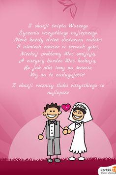 Znalezione obrazy dla zapytania rocznicę ślubu najpiękniejsze życzenia z okazji rocznicy ślubu Good To Know, Decoupage, Movie Posters, Film Poster, Popcorn Posters, Film Posters, Posters