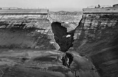Dec. 15, 1963: An aerial photo taken from inside the Baldwin Hills Dam shows the collapsed section in the north wall. This photo was publish...