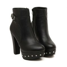 Ladies Black Bottom Studded Ankle Boots $39.99 Studded Ankle Boots, Wholesale Shoes, Hot Shoes, Back To Black, Rubber Rain Boots, Booty, Lady, Fit, Accessories