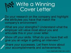Powerful Words For Your Cover Letter  Job Search Job Interviews